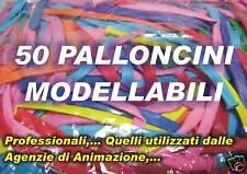 50 PALLONCINI MANIPOLABILI MODELLABILI Q260 D4 STANDARD PARTY FESTA COMPLEANNO