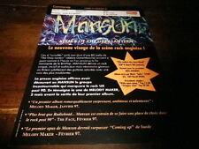 MANSUN - Plan média / Press kit !!! ATTACK OF THE GREY LANTERN !!!