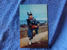 Vintage Postcard CANADA, Highland Piper in Nova Scotia Tartan