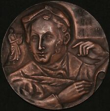 More details for 1792-1868 | rossini 'verse from pushkin' large medal | medals | km coins