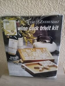 "Wine Enthusiasts Cork  Trivit Kit 11""×9"" Holds Approximately 40 Corks New"