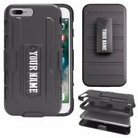 Personalized Shockproof Hybrid Dual Layer Clip Kickstand Heavy Duty Case