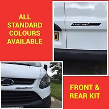 FORD TRANSIT CUSTOM M SPORT FRONT & REAR STICKER KIT DECALS STICKERS GRAPHICS