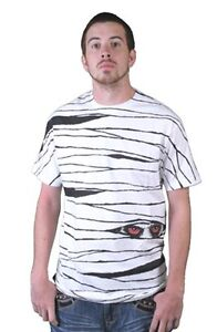 Tavik USA Made Mens White Egyptian Pharaohs Mummy Peeking Eyes T-Shirt NWT