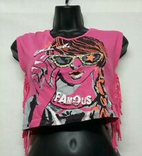 Girls Bongo M 7/8:Sleeveless  Shirt:Pink w/ Metal Studs Bling