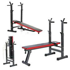 TOMSHOO Adjustable Folding Weight Lifting Flat Incline Bench Fitness Workout New