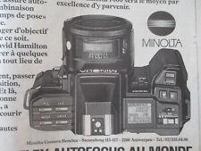 MINOLTA : LE MINOLTA 7000 : LE PREMIER APPAREIL REFLEX AUTOFOCUS AU MONDE - 1985