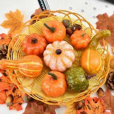 50X Halloween Pumpkin PineCone Artificial Harvest Autumn Thanksgiving Decoration