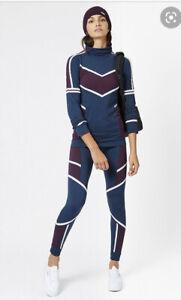 Sweaty Betty Drift Colourblock Seamless Ski Base Layer Leggings XS Thermal Run