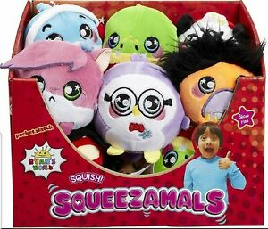 Ryan's World Squeezamals Soft Toy Slow Rise * Choice of Characters * NEW