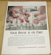 1920's Victor Safe & Lock Co Brochure~Wrought-Iron Fire-Proof Box~$8.00