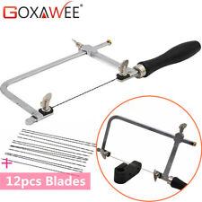 Adjustable Hand Jewelers Saw Frame w/ 12pcs Cutting Blades JEWELRY MAKING TOOLS