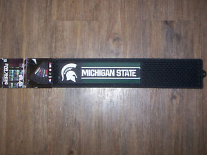 "NCAA FanMats Michigan State University Spartans Drink Mat 3.25""x24"" Bar/Man Cave"