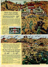 1965 ADVERT Toy Play Ideal Battle Action Soldiers Machine Gun Nest D Day Troops