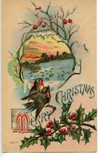 Christmas New Year Advertising Postcard Farm Progress paper 1910 1911 Birds