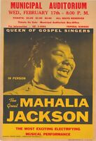 "Mahalia Jackson 13"" X 19"" Reproduction Concert Poster archival quality"