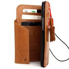genuine natural leather case fit HTC ONE M8 book wallet slim bracket magnetic 8