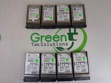 Lot of 8x HP 507284-001 300GB 6G Dual Port 10K 2.5