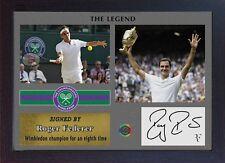 Roger Federer signed autographed 2017 Championships Wimbledon Tennis Memorabilia
