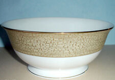 """Kate Spade Lenox June Lane Gold Footed Serving Bowl 8.5"""" New In Box"""