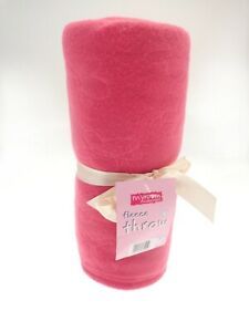 Warm Soft Plain Printed Fleece Throw Large Sofa Bed Cozy Blanket 120 x 150cm