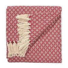 Fair Trade Hand Woven Bedspread Settee Sofa Cotton Throw Diamond Weave Pattern