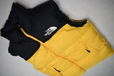 North Face 700 Puffer Weste Veste Winter TNF Nuptse 1996 Retro Gelb Schwarz S