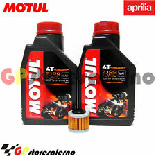 TAGLIANDO OLIO + FILTRO MOTUL 7100 10W50 APRILIA 125 SCARABEO LIGHT IE 2012