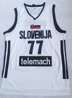 Luka Doncic #77 Slovenija Team basketball jersey Men's Stitched White