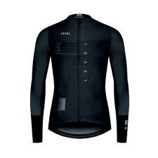 Le Col Long Sleeve Cycling Jersey - Black/Grey Color - Size Large