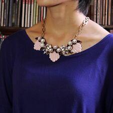 Collana Conchiglia Rosa Fiore Cristallo Marrone Retrò Moderno Originale Sera JCR