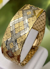grande BRACCIALE Bracelet TAPPETO vintage anni 60 solid GOLD ORO 750°/°°°gr 61