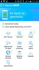 F-Secure SAFE 2018 Mobile Security Anti-Virus für Android 5 Geräte 19 Sprachen