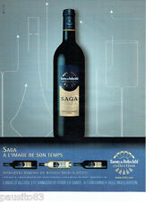PUBLICITE ADVERTISING 096  2008 domaine Baron de Rothschild (Lafite) Saga 190916