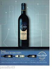PUBLICITE ADVERTISING 096  2008  vins domaine Baron de Rothschild (Lafite) Saga
