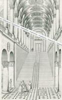 München - Treppenhaus der Staatsbibliothek - Entwurf von Gärtner     W 7-1