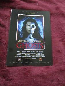 Michael Jackson Ghosts Cannes Festival Glossy Giant Program Rare Mint
