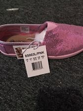 Lil Bobs Skechers Pink Sparkle Shoes Toddler Girls Size 2