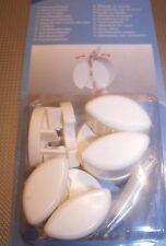 10 x Handtuchklemme Handtuchhalter Weiß Zum Klemmen von Handtüchern Modern