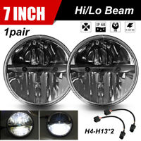 "For Land Rover Defender LED Headlights Headlamp RHD 90 110 Hi/Lo Beam 7"" 90W"