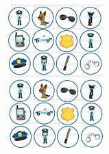24 ND2 Polizia Poliziotto commestibile glassa DECORAZIONI PER TORTA DECORAZIONI