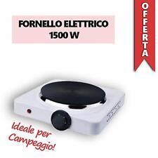 FORNELLO ELETTRICO 1500W Regolabile Piastra In Ghisa Viaggio Campeggio 150 mm