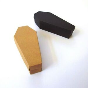 10 x Coffin Favour Boxes. Trick or Treat Halloween Box. Gothic Weddings