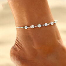 Silver Tone Crystal Anklet.
