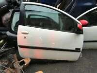 PEUGEOT 107 OS DRIVERS WING MIRROR RED