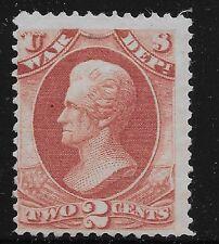 US Scott #O84, Single 1873 Official 2c AVG MH