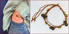 Glöckchenarmband Armkettchen Armbändchen verstellbar Hippie Rasta Reggae Rot NEU