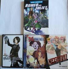 Set Of 4 Manga Books - Black Butler, Negima, Last Fantasy, Romeo and Juliet