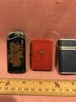 Vintage Lot Of 3 Well Used Cigarette Lighters, Zippo Plus 2 Unmarked
