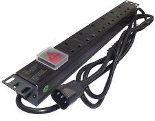 More details for 6 way uk pdu to 3m iec c14 / ups plug 1u 19